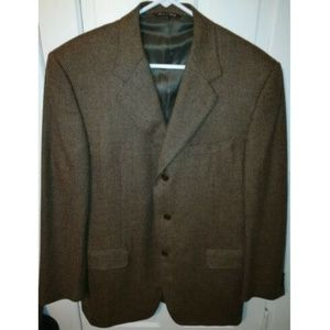 Canali Wool Cashmere Woven 42R Sport Coat Jacket